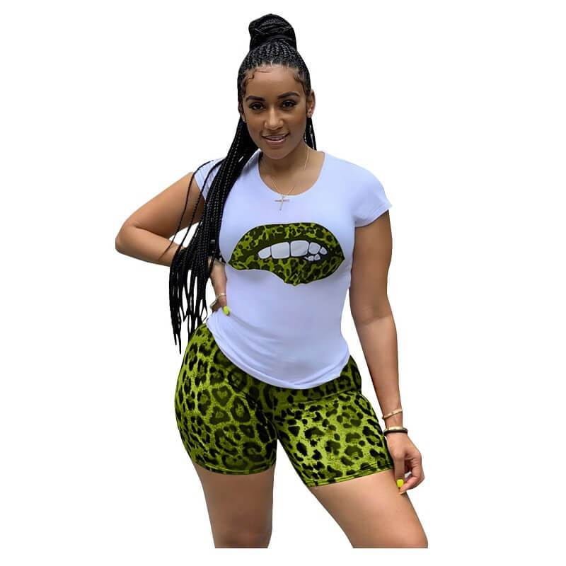 PlusSizeTracksuitLipsMatchingSets-Greencolor