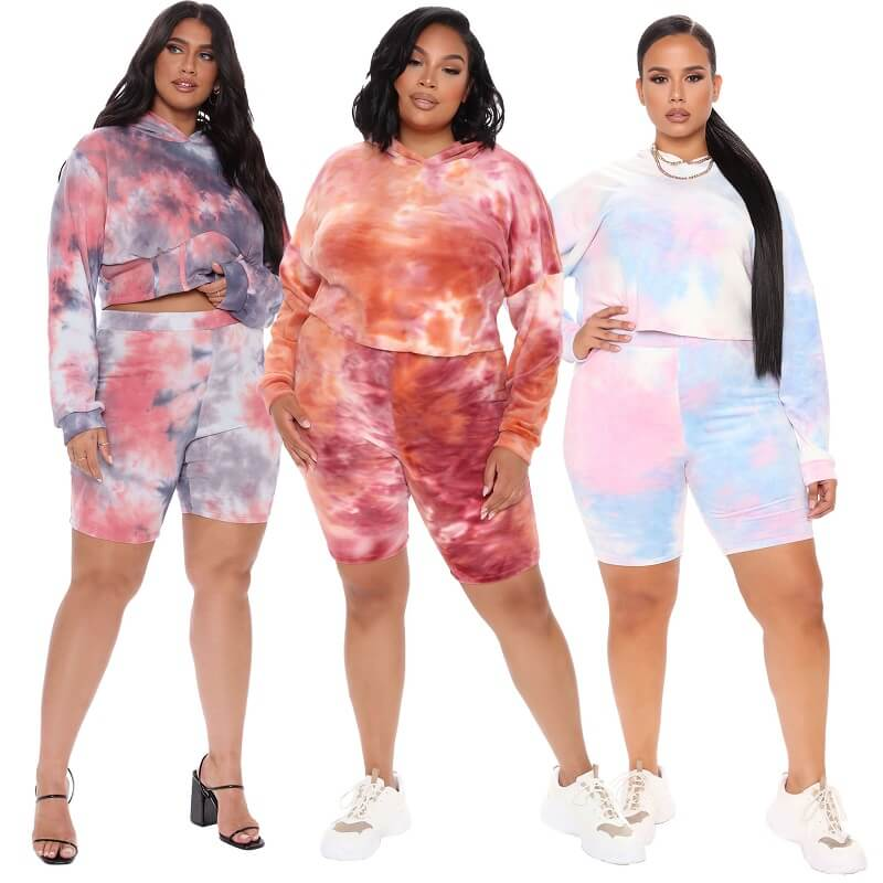Plus Size Two-piece Hooded Sports - main picture