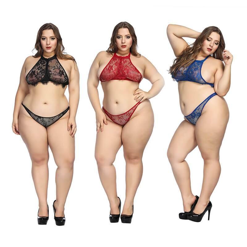 Plus Size Super Sexy Lingerie - three colors positive