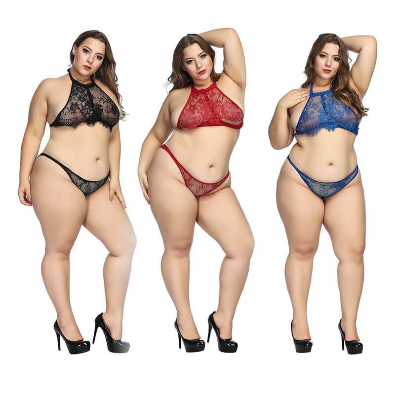 Plus Size Super Sexy Lingerie - three colors front