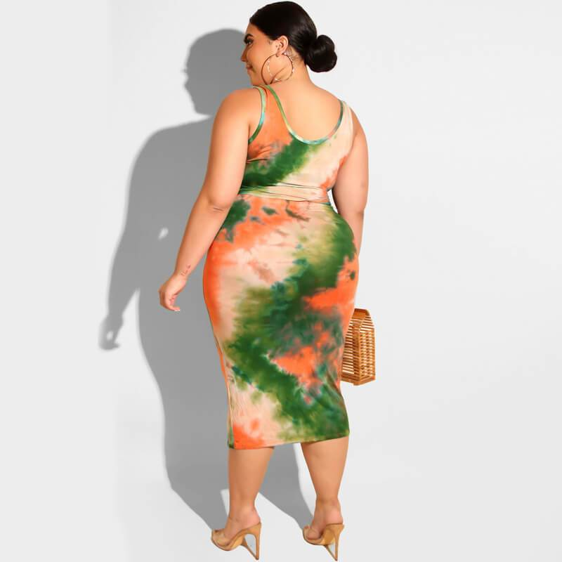 Plus Size Prairie Chic Style Outfits - green back