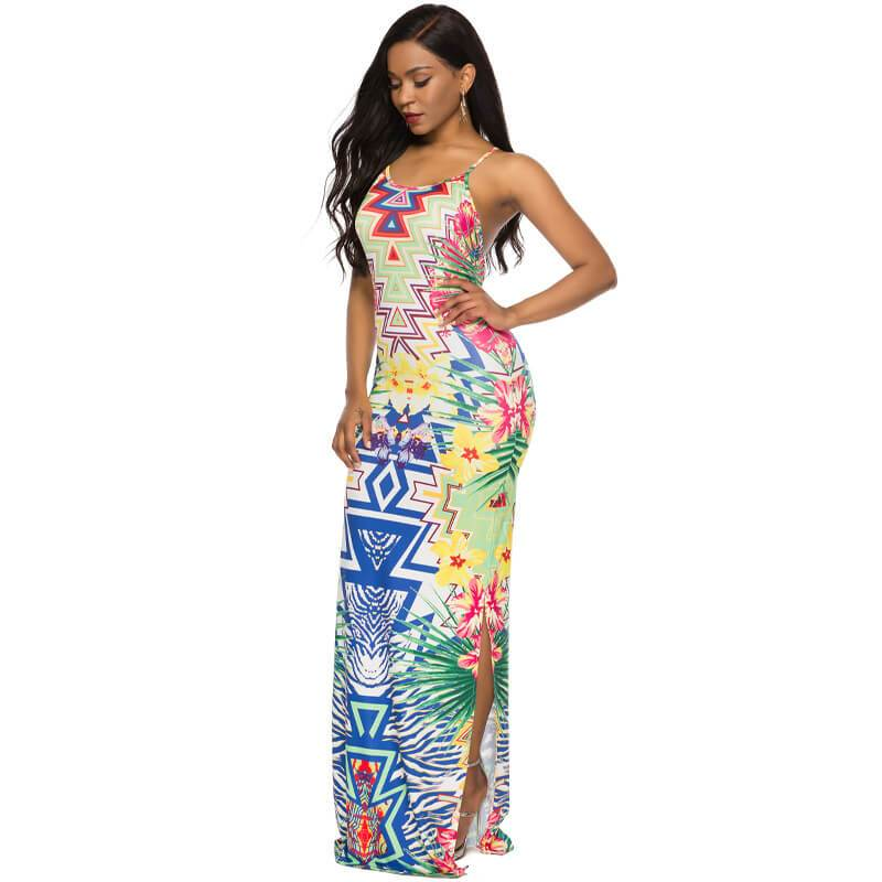Printed Dress - left side view