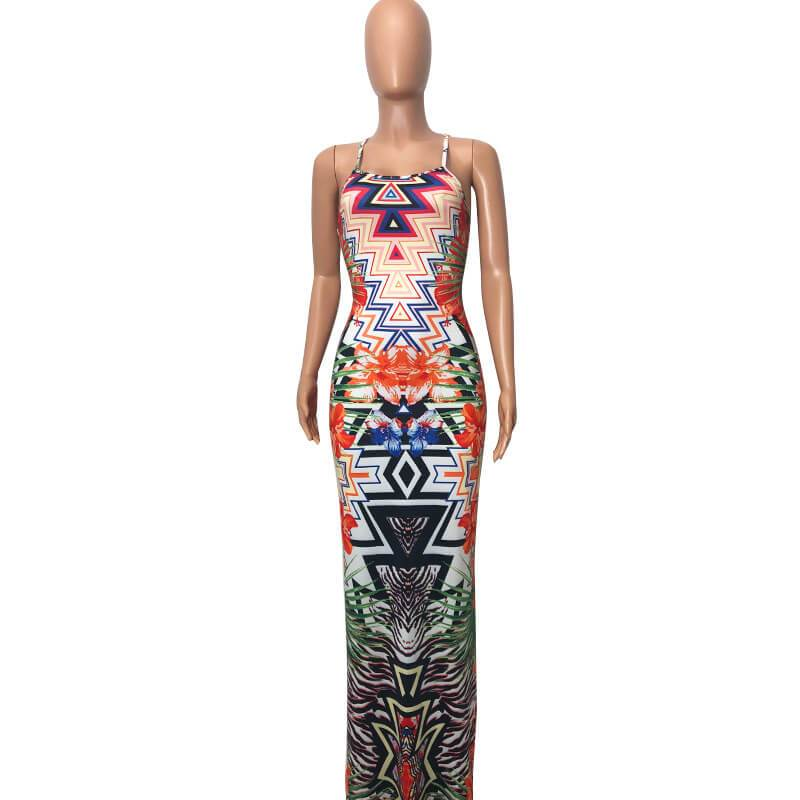 Printed Dress - front side view