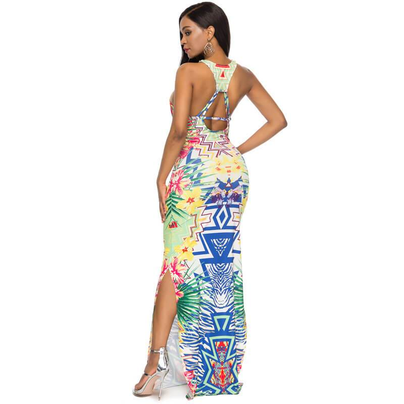 Printed Dress - back side view