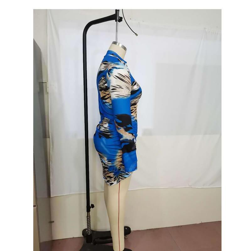 Plus Size Slip Dress - blue right