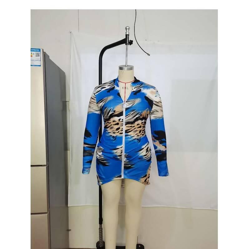 Plus Size Slip Dress - blue positive