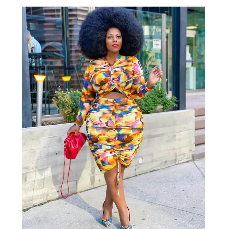Plus Size Hawaiian Dress - colorful main picture