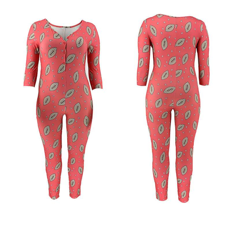 Jumpsuit with Train Plus Size - red model picture