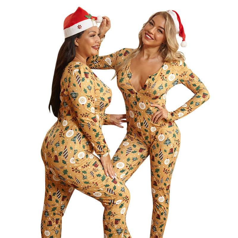 Plus Size Gold Printed Jumpsuits - gold positive