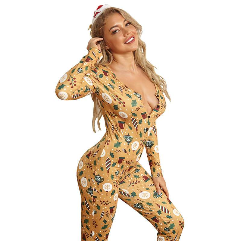 Plus Size Gold Printed Jumpsuits - gold right