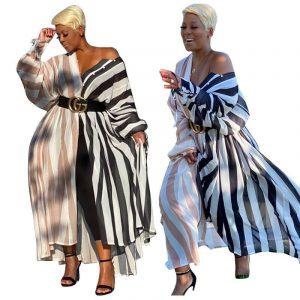 Oversized Color Block Long Dress - main picture