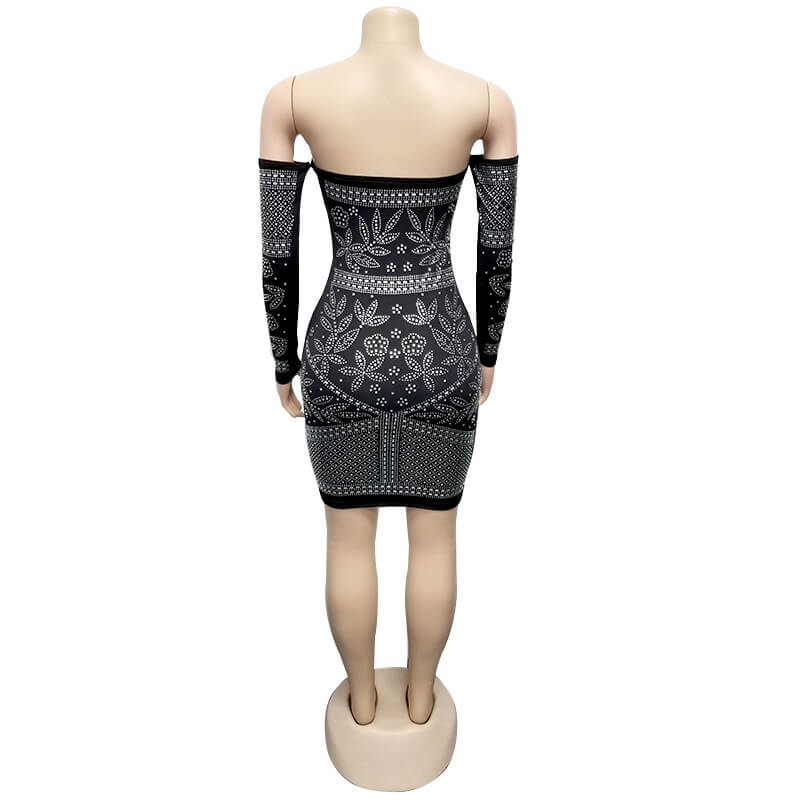 Sexy Tight Dress - black behind