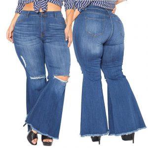 Plus Size Flare Leg Jeans - main picture