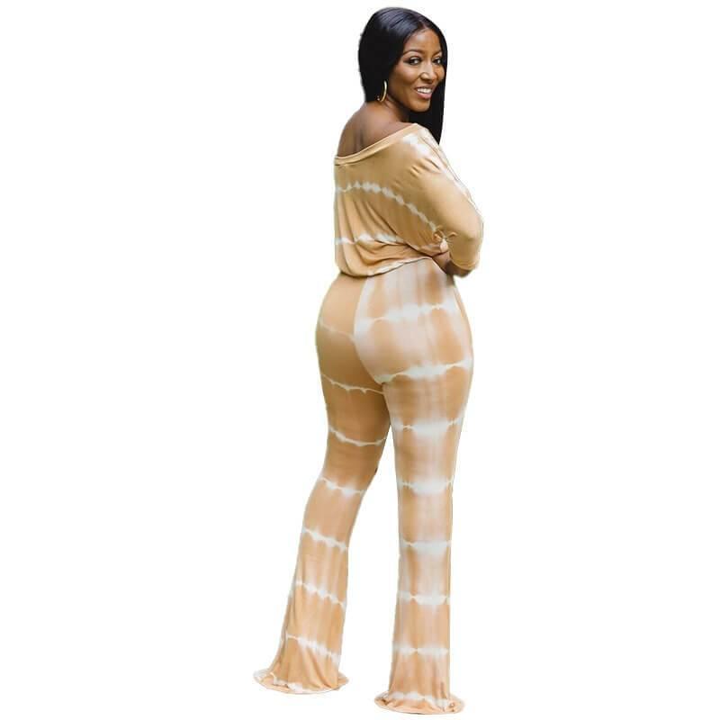 Plus Size Wide Leg Jumpsuit - yellow back