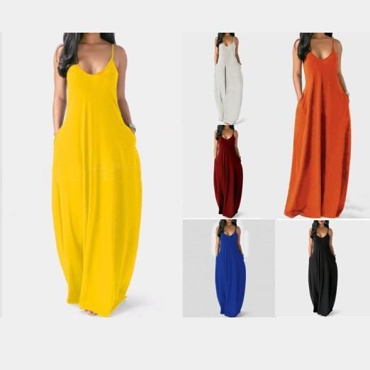 Plus Size Sleeveless Maxi Dresses 11 Colors