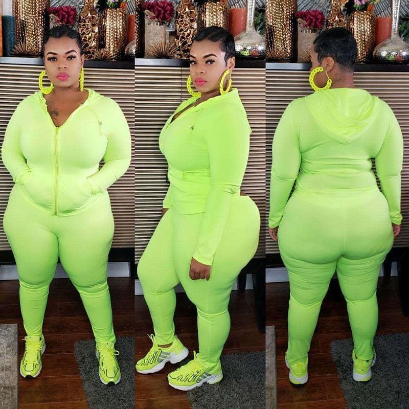 Plus Size Sport 6-color Casual Wear - green color
