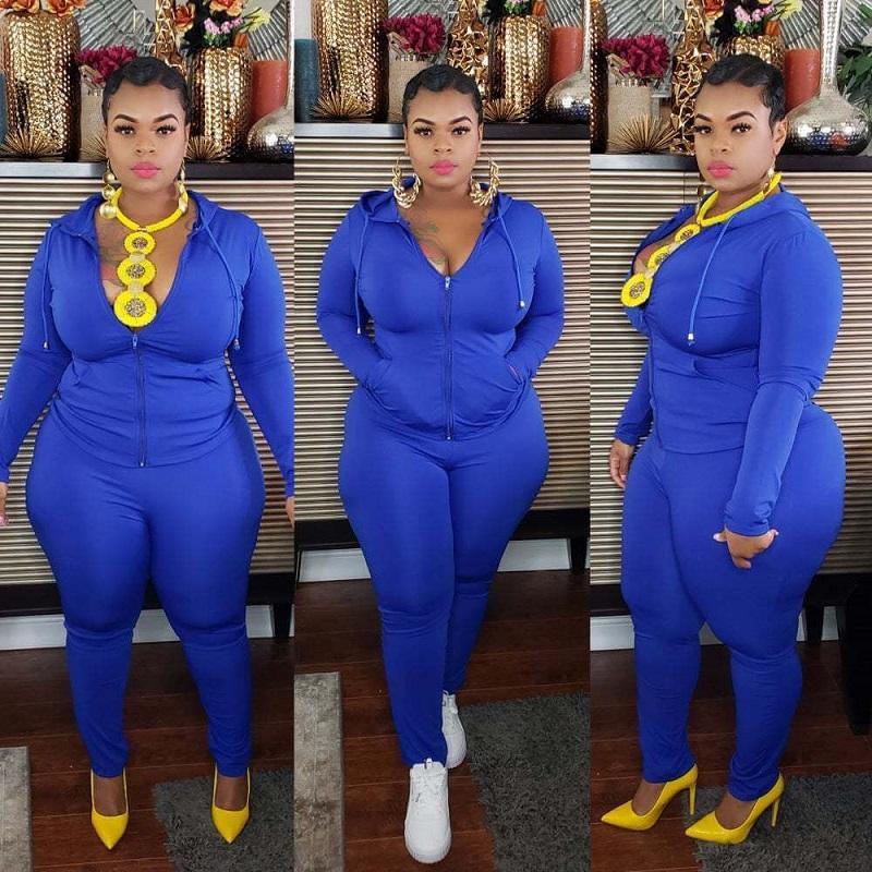 Plus Size Sport 6-color Casual Wear - blue color