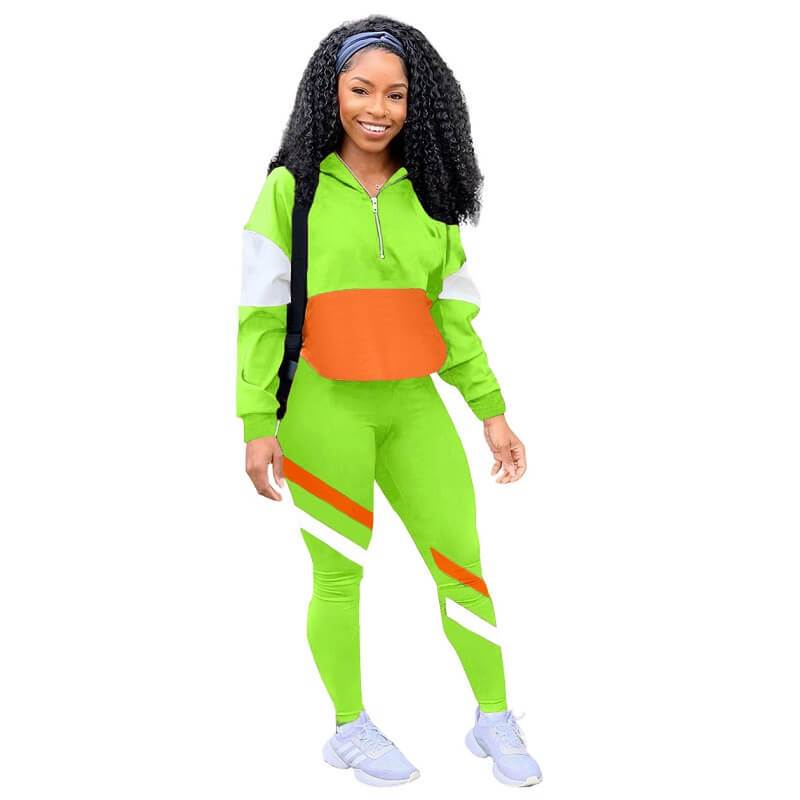 Two Piece Winter Sets - green color