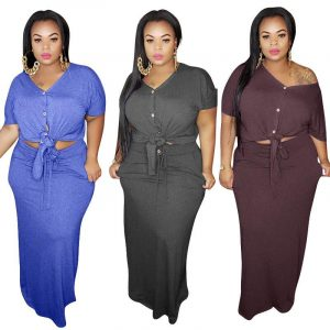 Plus Size Strap Knitted L Two-piece Set- main picture