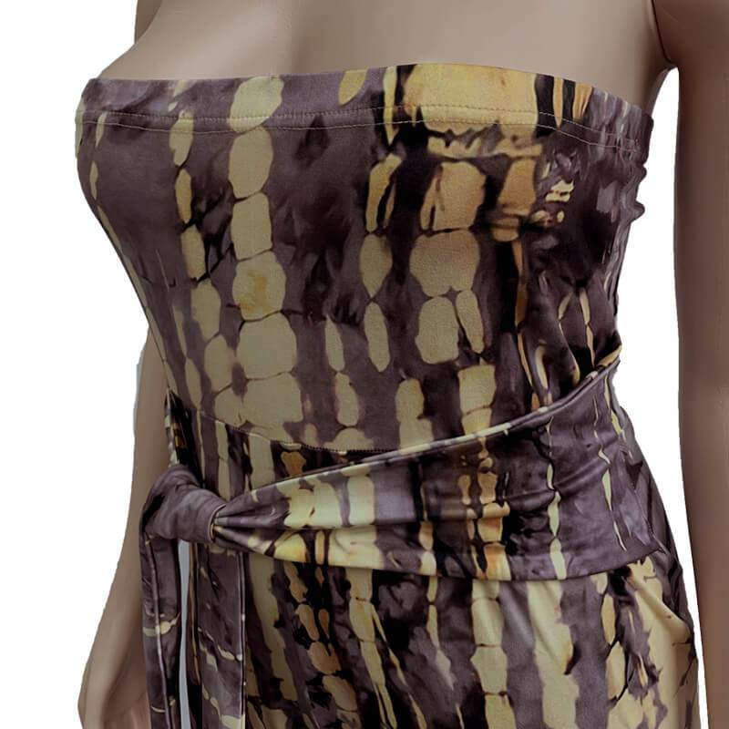 Strapless Plus Size Jumpsuit - gray detail image