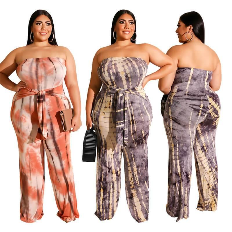 Strapless Plus Size Jumpsuit - main picture