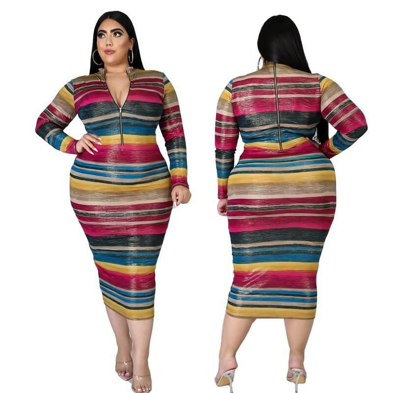 Cheap Plus Size Maxi Dresses Under 20 - colorful main picture