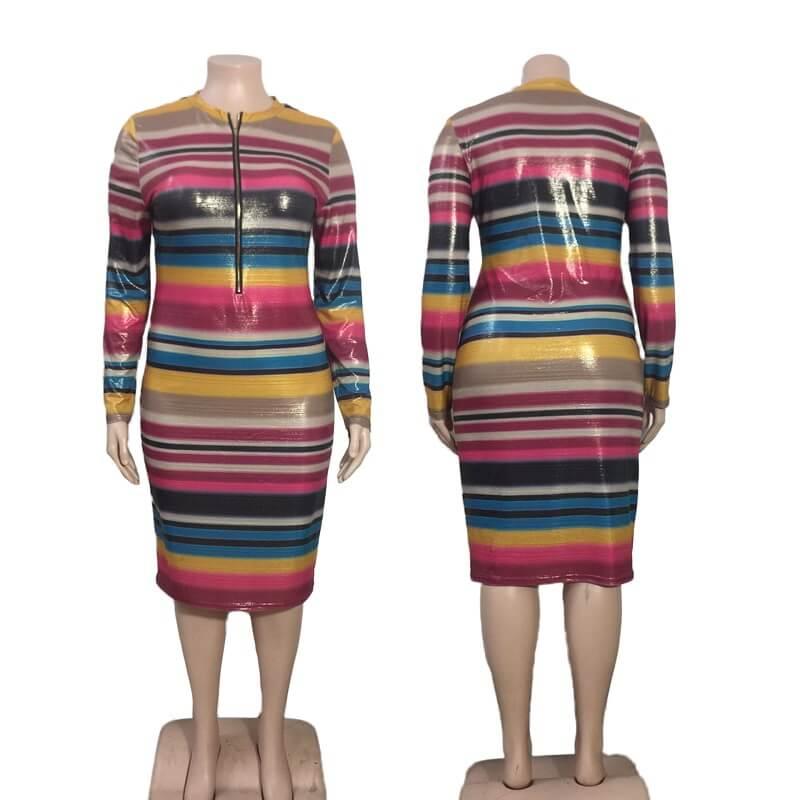Cheap Plus Size Maxi Dresses Under 20 - colorful model picture