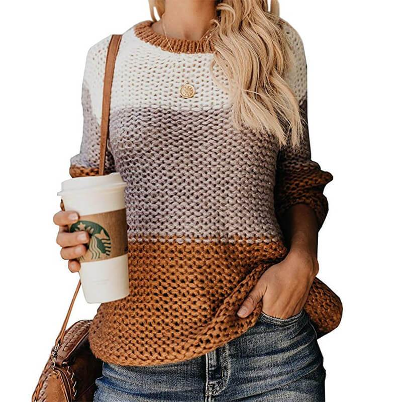 Plus Size Slouchy Sweater - yellow color