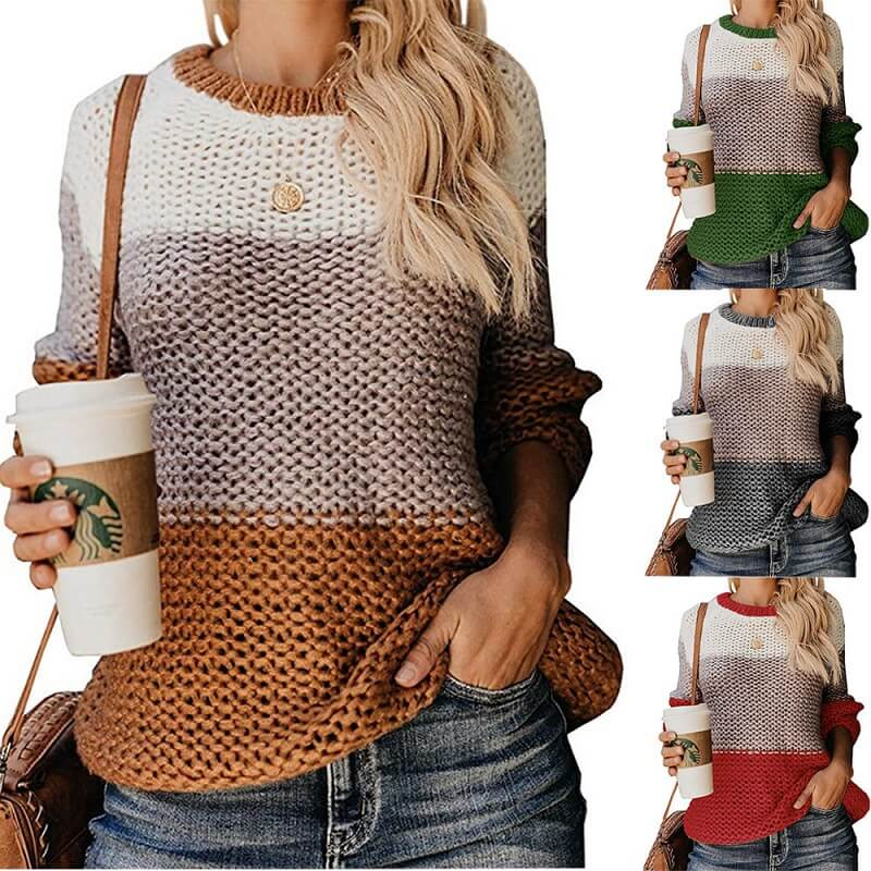 Plus Size Slouchy Sweater - main picture