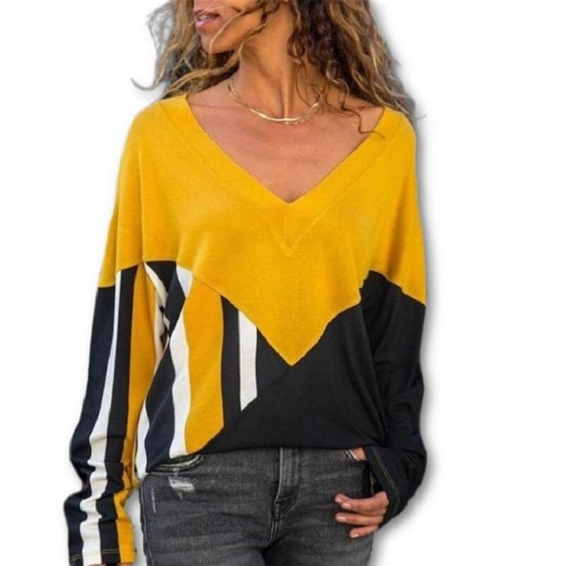 Plus Size Yellow T Shirt - yellow color