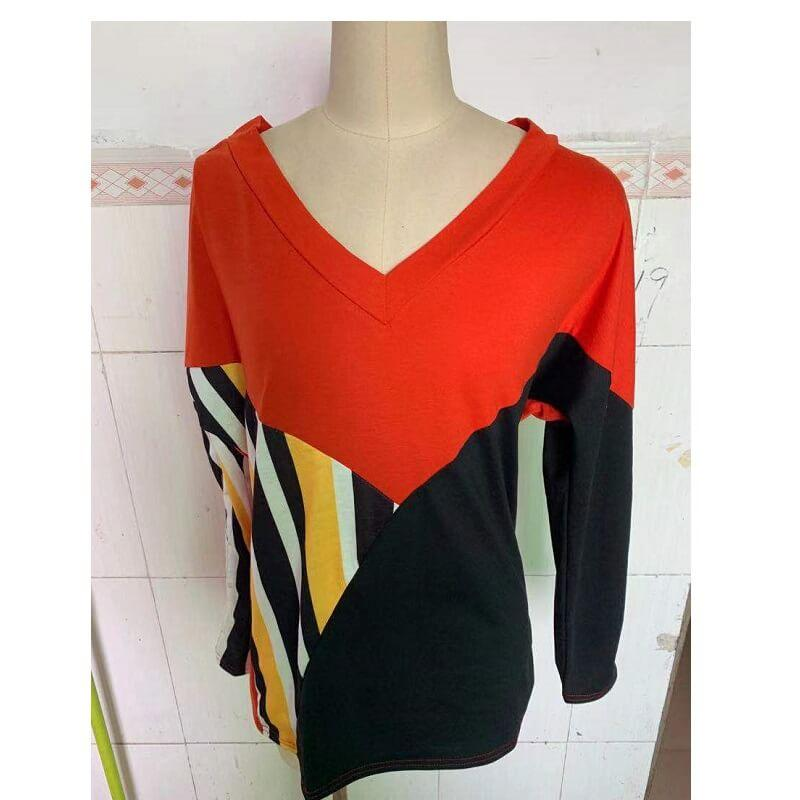 Plus Size Yellow T Shirt - red color