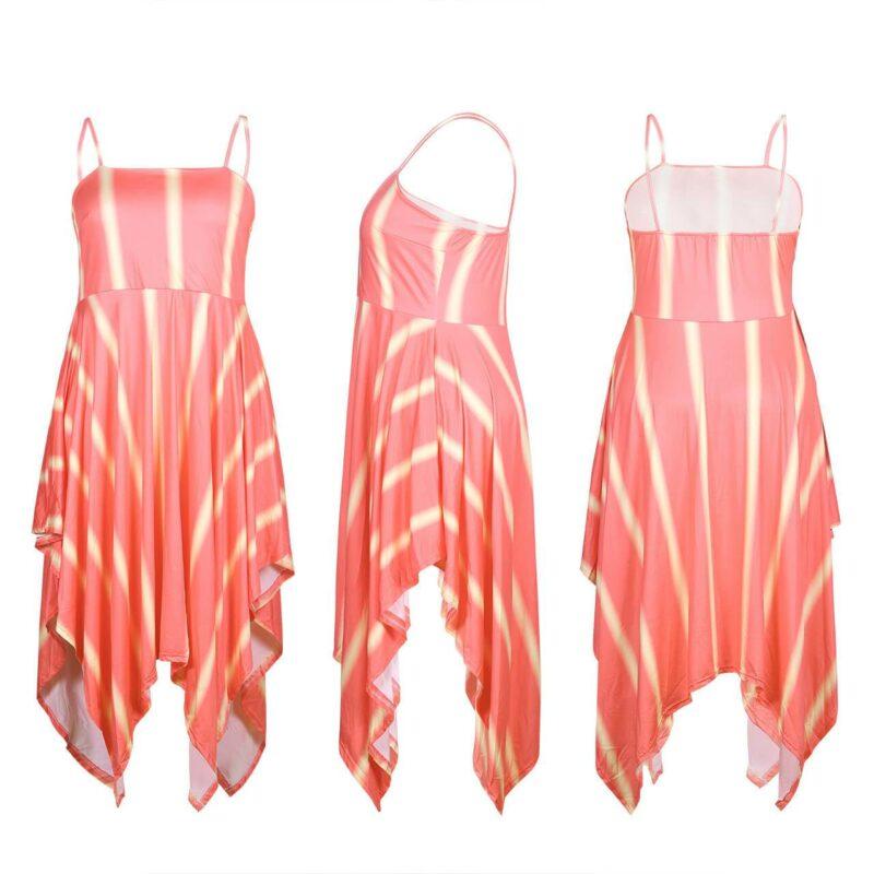 Plus Size Swim Dress - orange detail image