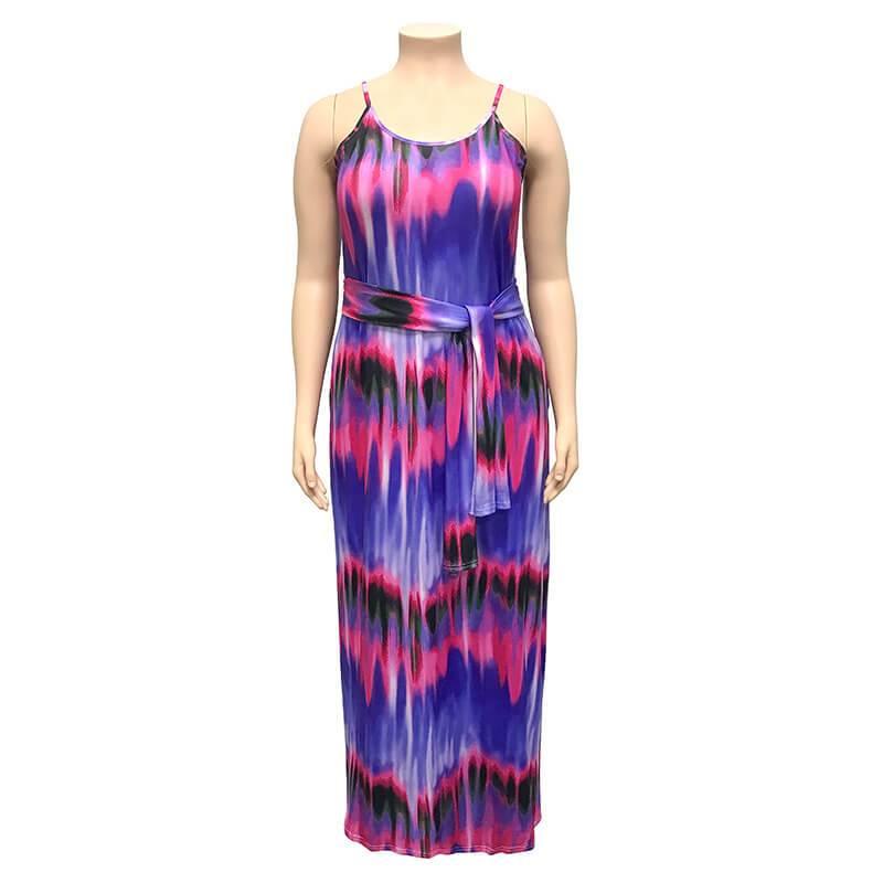 Plus Size Boho Dresses - purple positive