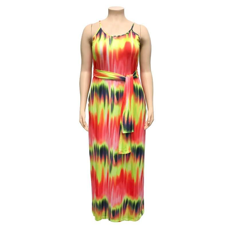 Plus Size Boho Dresses - orange positive