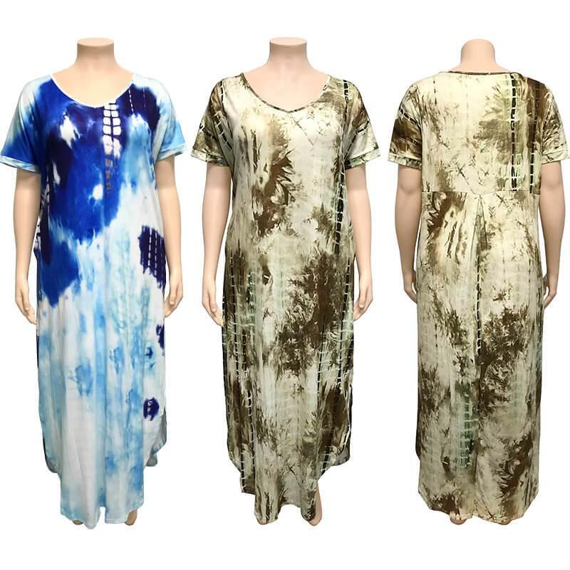 Oversized Tie-dye Loose Dress - model picture
