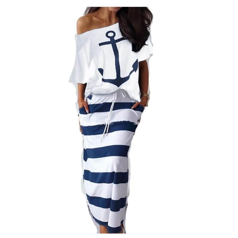 Plus Size Summer Female Suits - white logo color
