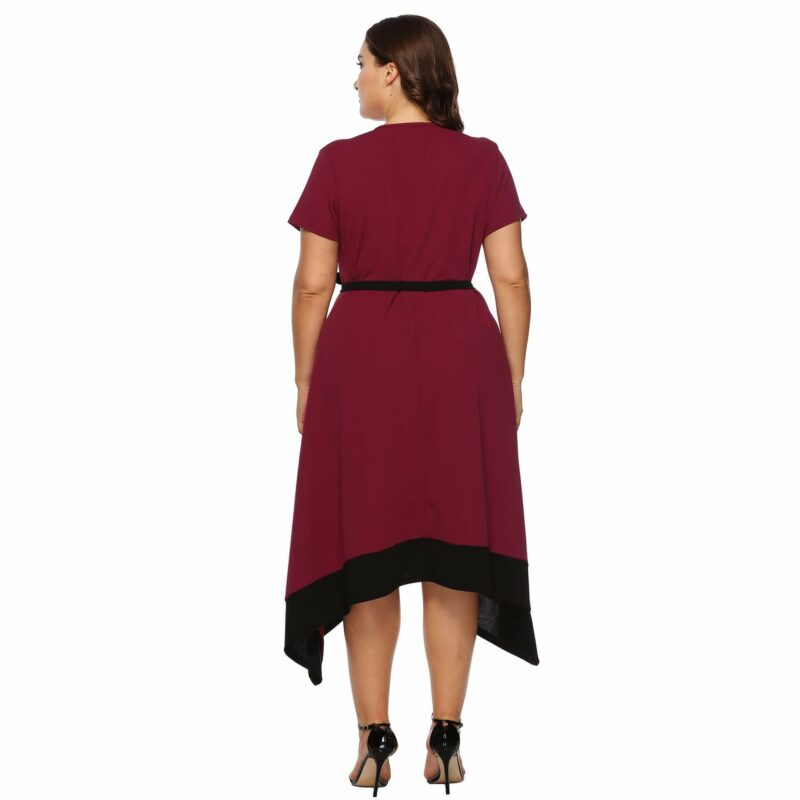Plus Size Formal Dresses For Weddings -  red back