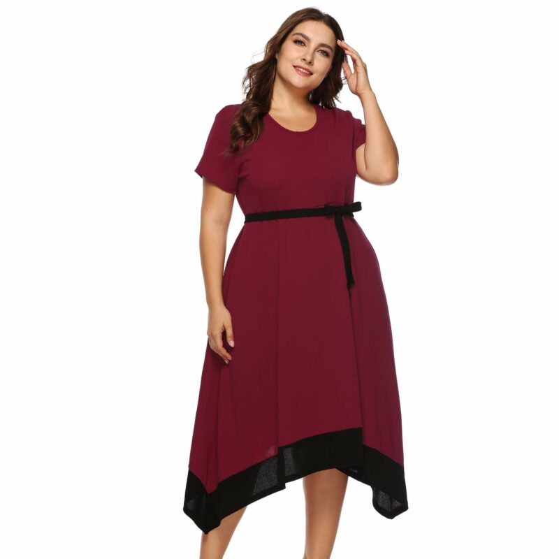 Plus Size Formal Dresses For Weddings -  red color