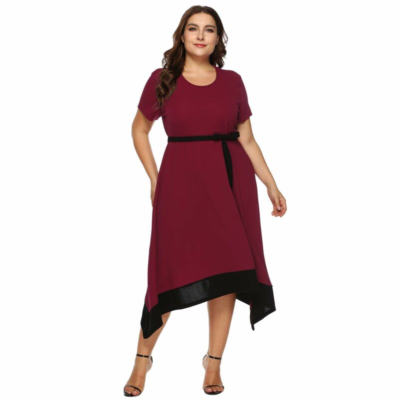 Plus Size Formal Dresses For Weddings -  red  whole body