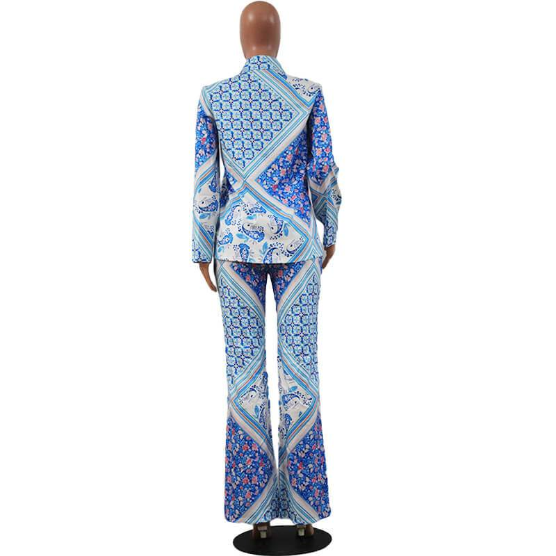 Two Piece Shirt - blue back
