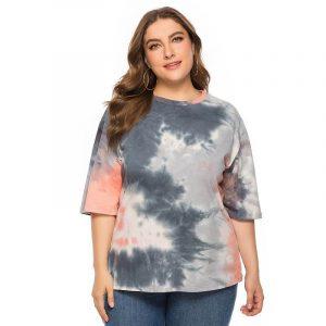 Plus Size Camo T Shirt - mian picture