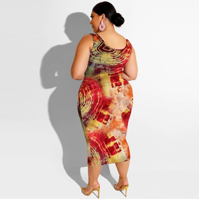 Plus Size Maxi Skirt Set - circle back