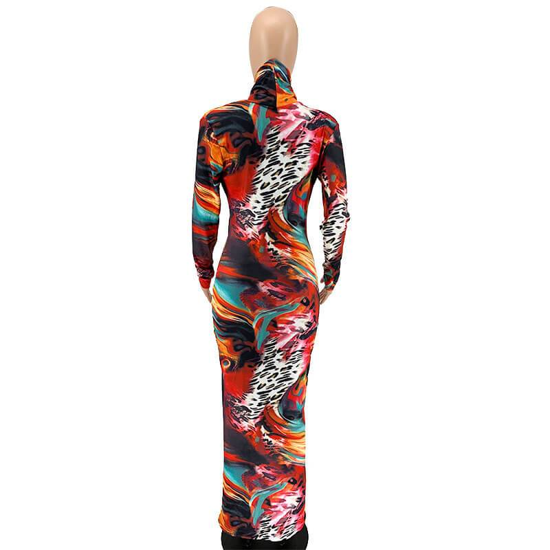 Plus Size Overall Dress - multicolor back