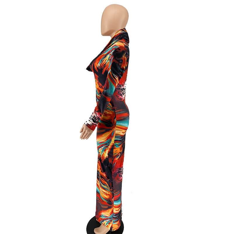 Plus Size Overall Dress - multicolor left