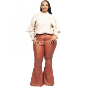 Plus Size Flare Bell Bottom Jeans - main picture