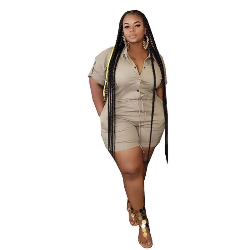 Jumpsuit Plus Size Formal - khaki positive