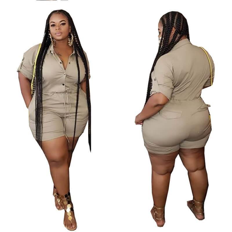 Jumpsuit Plus Size Formal- khaki color