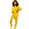 Women's Two Piece Suit Set - yellow color