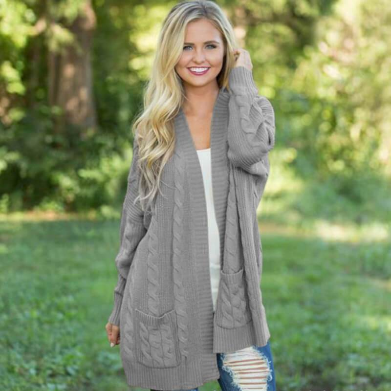 Womens 3x Cardigan Sweater - gray color