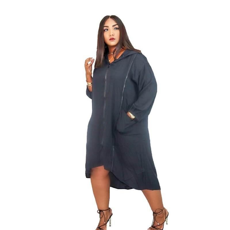 Dresses For Larger Ladies - black color